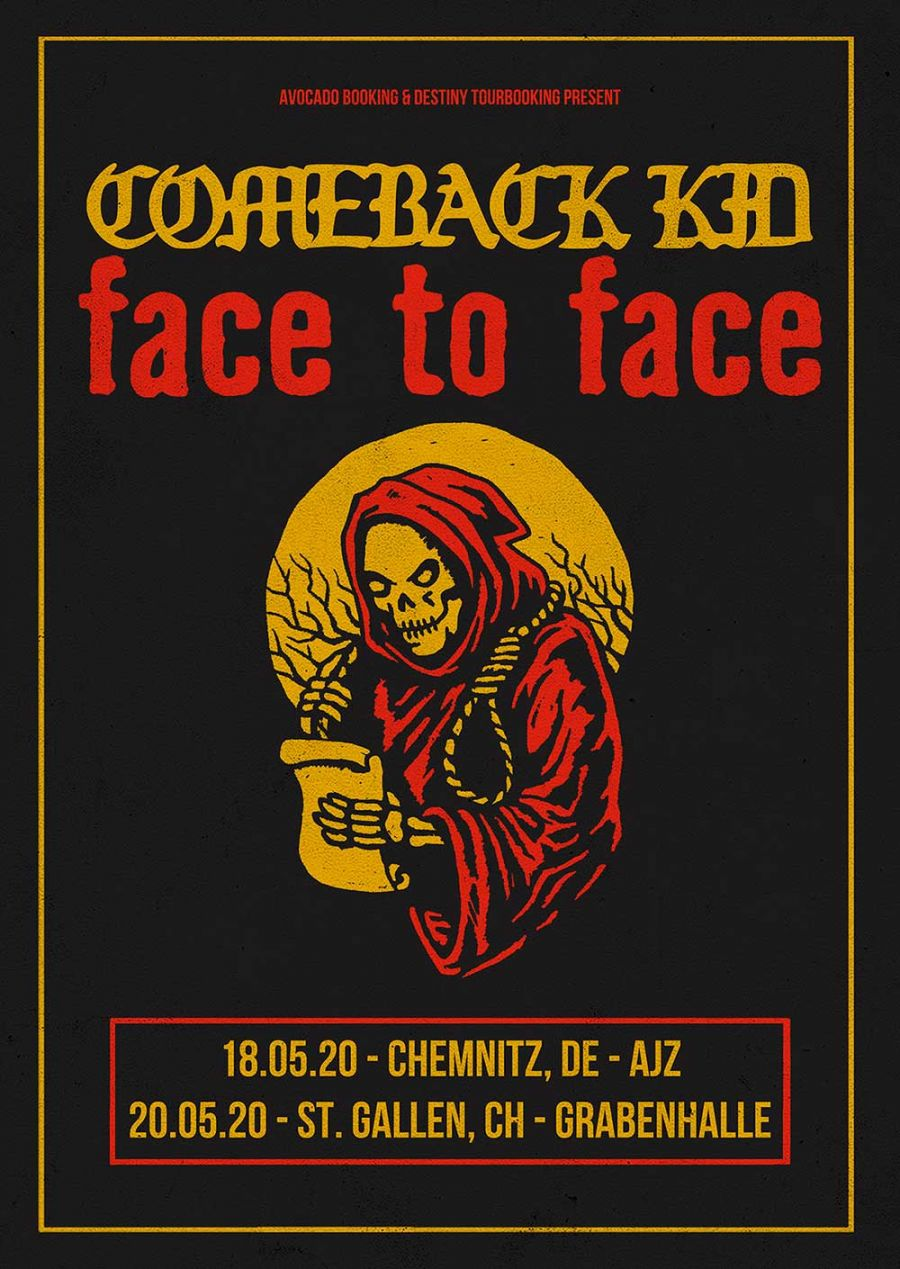 Comeback Kid & Face To Face Tourposter 2020