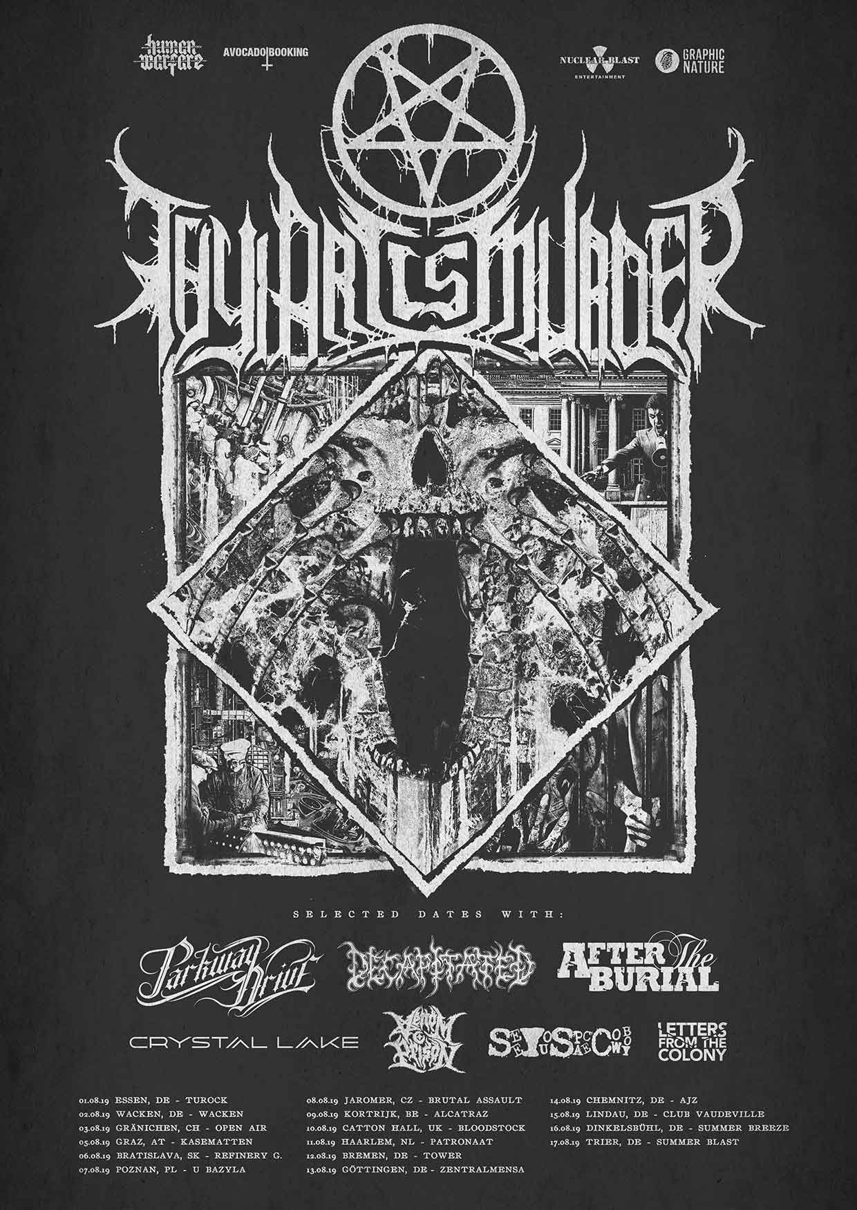 Poster Thy Art Is Murder Summer 2019